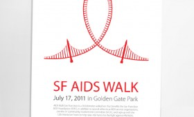 SF AIDS Walk company shirts